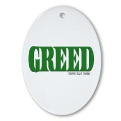Greed Logo Oval Ornament