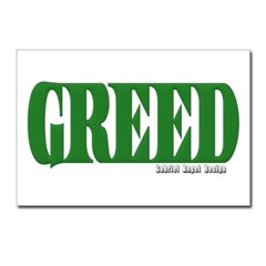 Greed Logo Postcards (Package of 8)