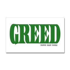 Greed Logo Rectangle Decal