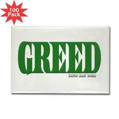 Greed Logo Rectangle Magnet (100 pack)