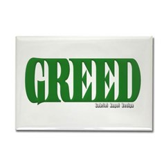 Greed Logo Rectangle Magnet