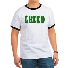 Greed Logo Ringer T-Shirt
