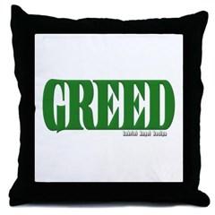 Greed Logo Throw Pillow