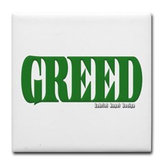 Greed Logo Tile Coaster