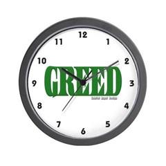 Greed Logo Wall Clock
