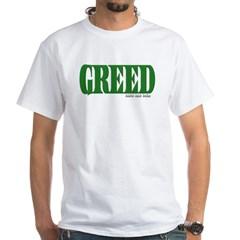 Greed Logo White T-Shirt