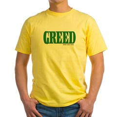 Greed Logo Yellow T-Shirt