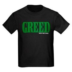 Greed Logo Youth Dark T-Shirt by Hanes