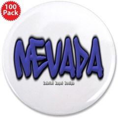 "Nevada Graffiti 3.5"" Button (100 pack)"