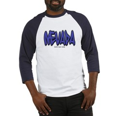 Nevada Graffiti Baseball Jersey T-Shirt