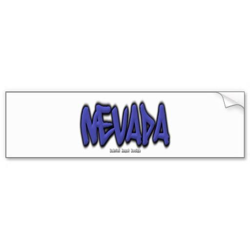 Nevada Graffiti Bumper Sticker