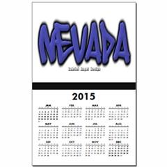 Nevada Graffiti Calendar Print