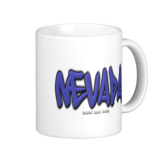 Nevada Graffiti Classic White Mug
