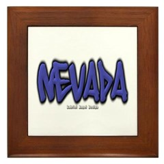 Nevada Graffiti Framed Tile