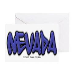 Nevada Graffiti Greeting Card