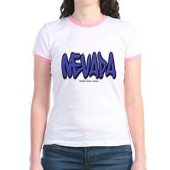 Nevada Graffiti Junior Ringer T-Shirt