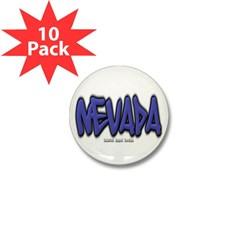 Nevada Graffiti Mini Button (10 pack)
