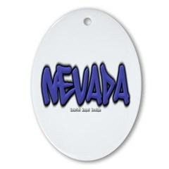 Nevada Graffiti Ornament (Oval)