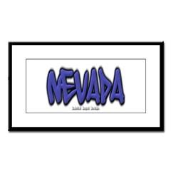 Nevada Graffiti Small Framed Print