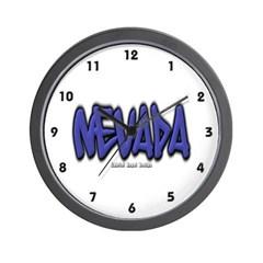 Nevada Graffiti Wall Clock