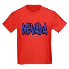 Nevada Graffiti Youth Dark T-Shirt by Hanes