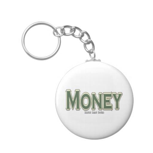 Money Basic Button Keychain