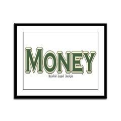 Money Framed Panel Print