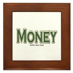 Money Framed Tile