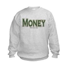 Money Kids Crewneck Sweatshirt by Hanes
