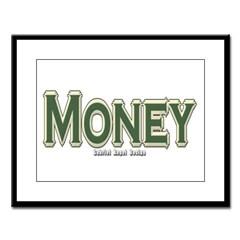 Money Large Framed Print