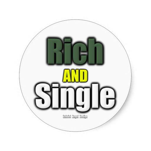 Rich AND Single Classic Round Sticker