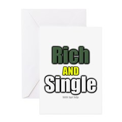 Rich AND Single Greeting Cards (Pk of 20)