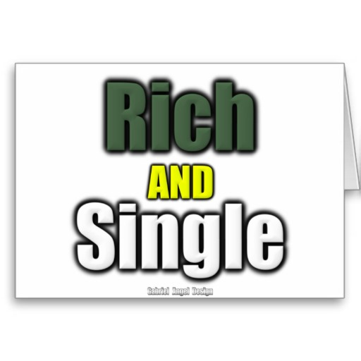 Rich AND Single Greeting Card