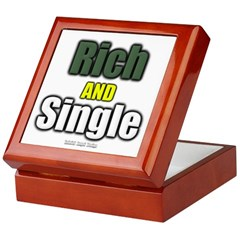 Rich AND Single Keepsake Box
