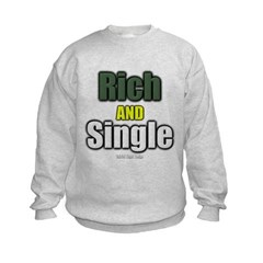 Rich AND Single Kids Crewneck Sweatshirt by Hanes