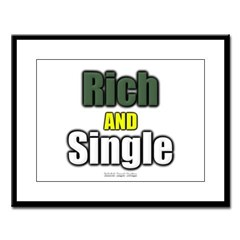 Rich AND Single Large Framed Print