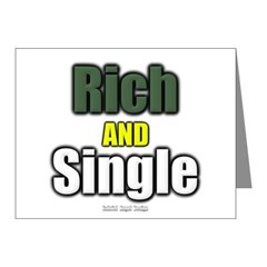 Rich AND Single Note Cards (Pk of 20)