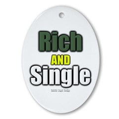 Rich AND Single Oval Ornament