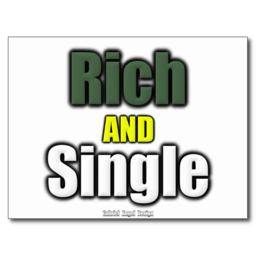 Rich AND Single Postcard