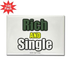 Rich AND Single Rectangle Magnet (100 pack)