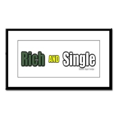 Rich AND Single Small Framed Print