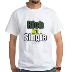 Rich AND Single White T-Shirt