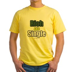 Rich AND Single Yellow T-Shirt
