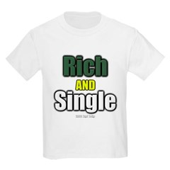 Rich AND Single Youth T-Shirt by Hanes
