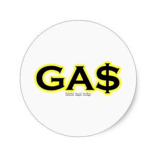 GA$ Classic Round Sticker