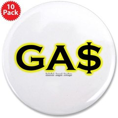 "GAS 3.5"" Button (10 pack)"