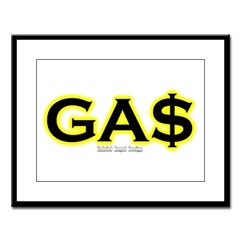 GAS Large Framed Print