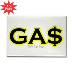 GAS Rectangle Magnet (10 pack)