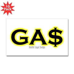 GAS Rectangle Sticker 10 pk)