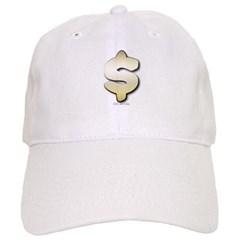 Golden Dollar Sign Baseball Cap